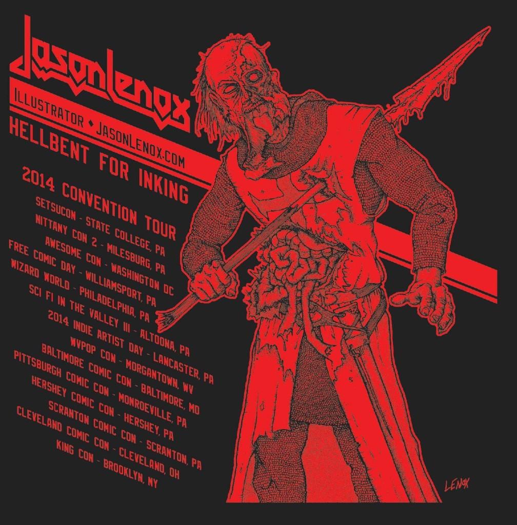 Jason Lenox Judas Priest Theme Tee Back