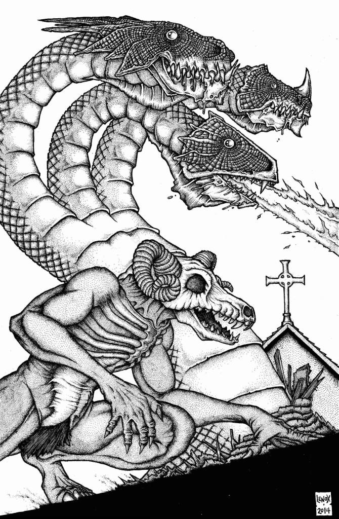 Jason Lenox -Barron and Hydra Pinup for UGLI STUDIOS web