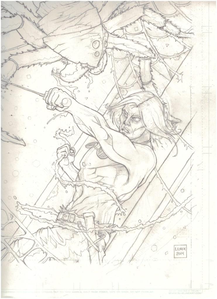 Jason Lenox- Tower of the Elephant Pre Ink Last Pencil Edits