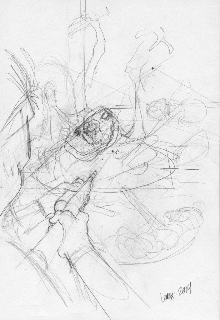 Dog Mutation Rough Sketch003