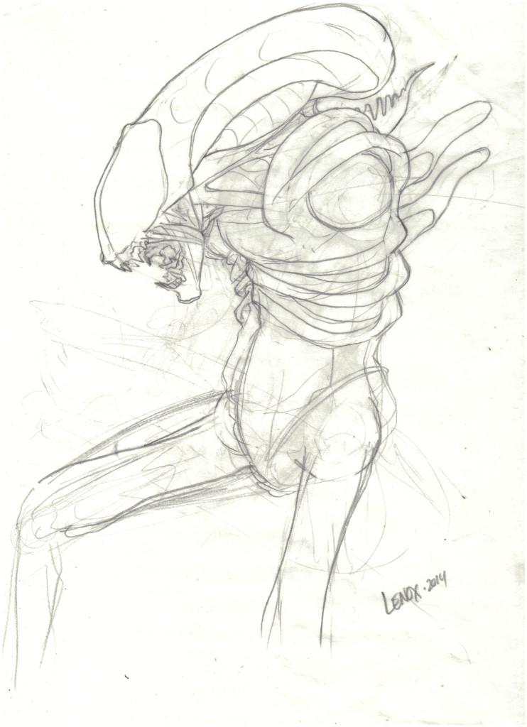 Jason Lenox ALIENS Artwork Progress (4)