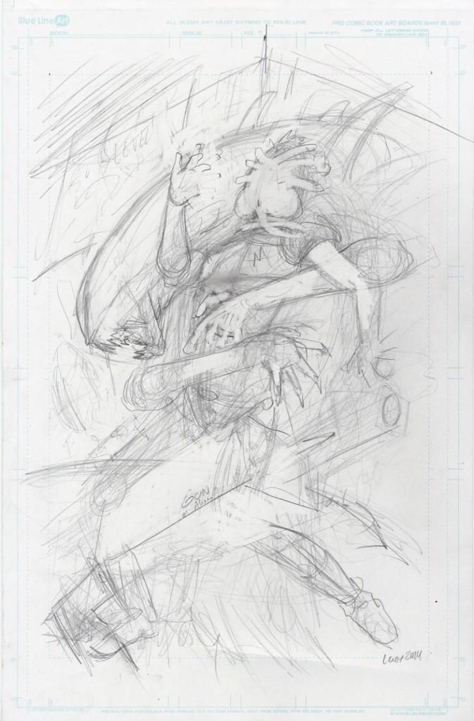 Jason Lenox ALIENS Artwork Progress