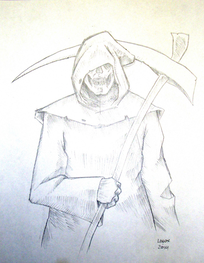 Grim Reaper Pencil Commission – Jason Lenox