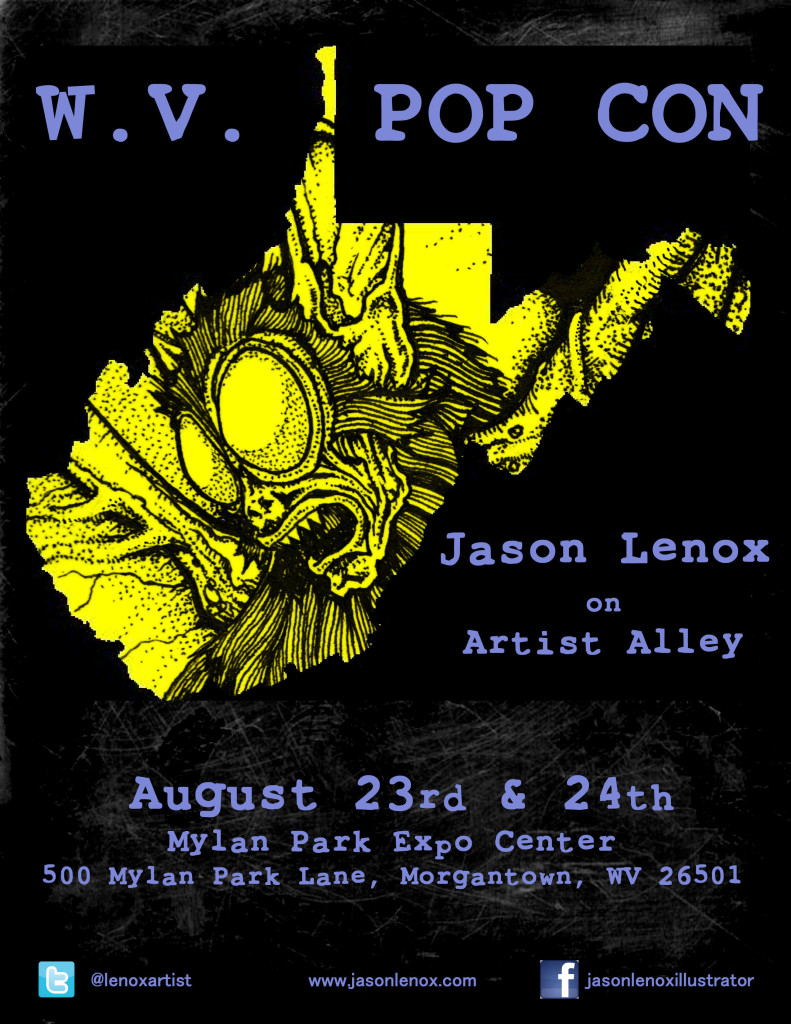 Jason Lenox WVPop Con Poster small