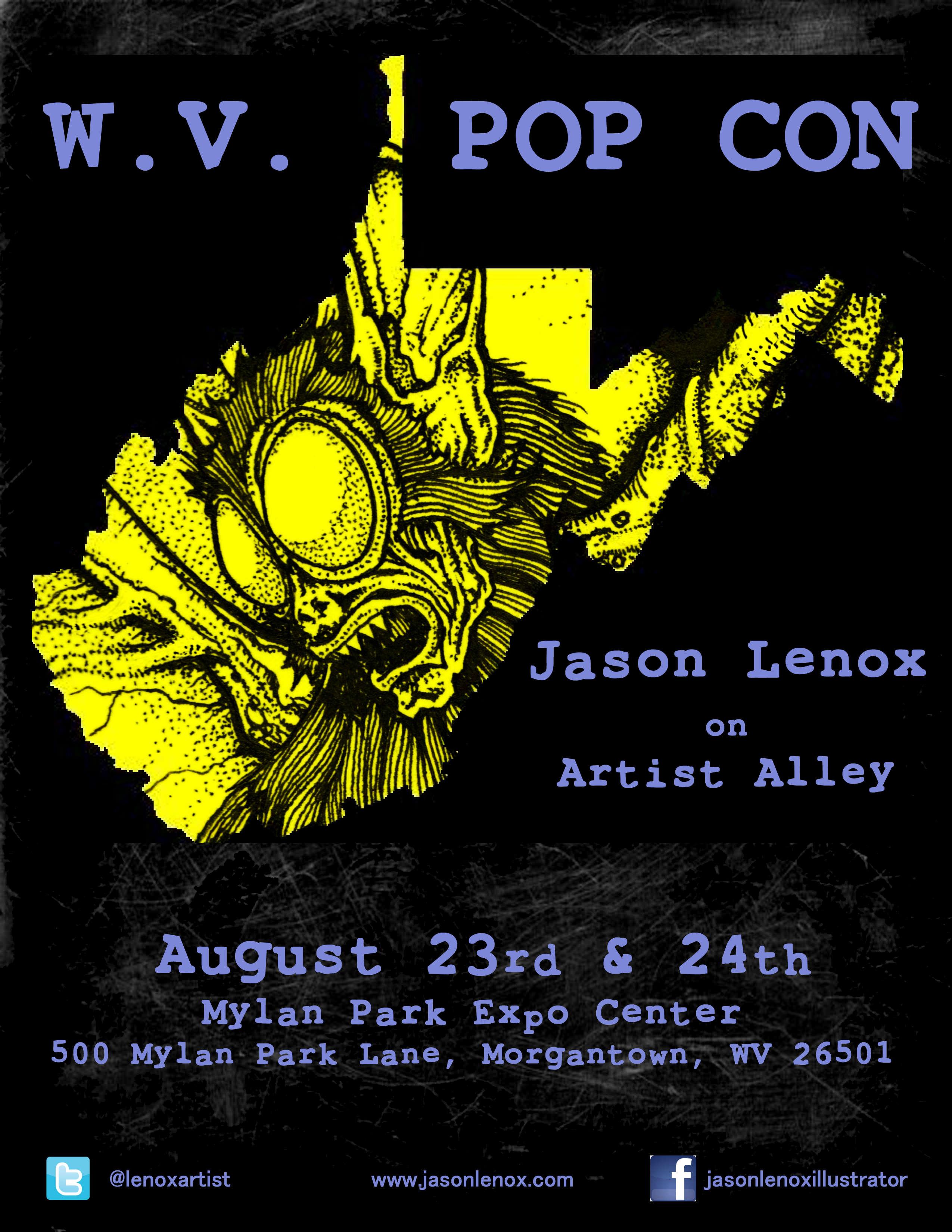 Poster design using gimp - Jason Lenox Wvpop Con Poster Small