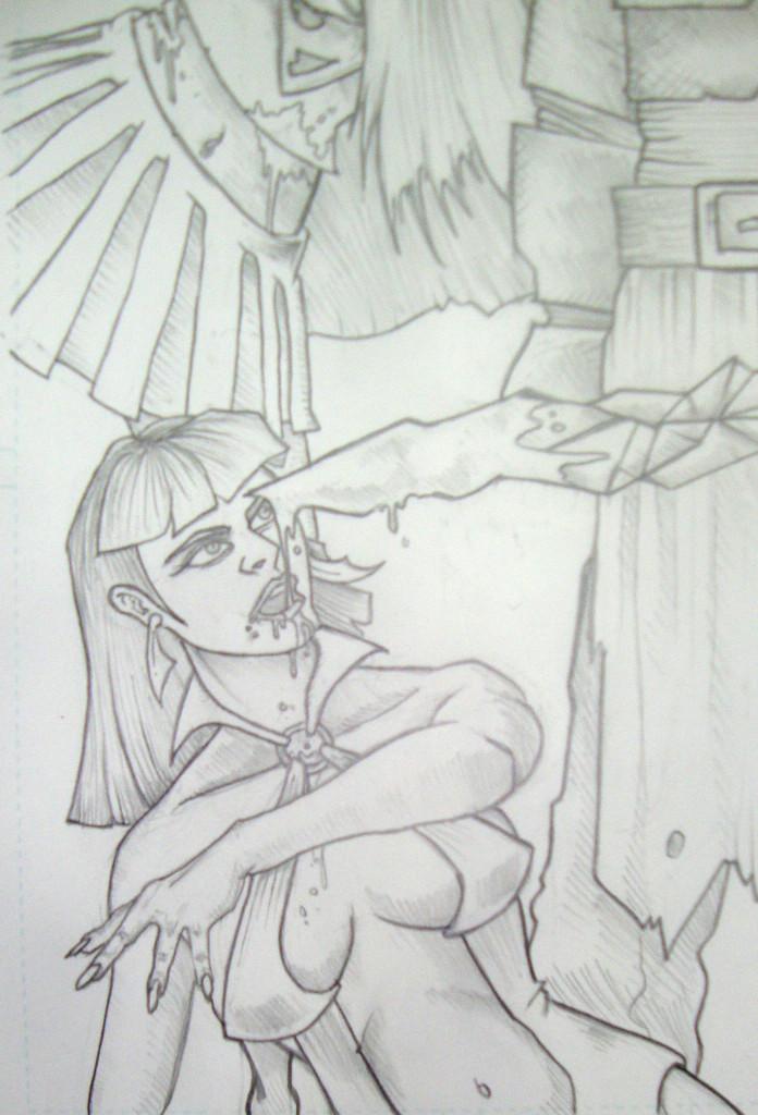 Supergirl Vampirella Commission 1 Lenox (2)