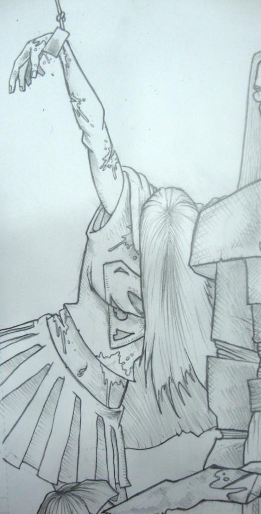 Supergirl Vampirella Commission 1 Lenox