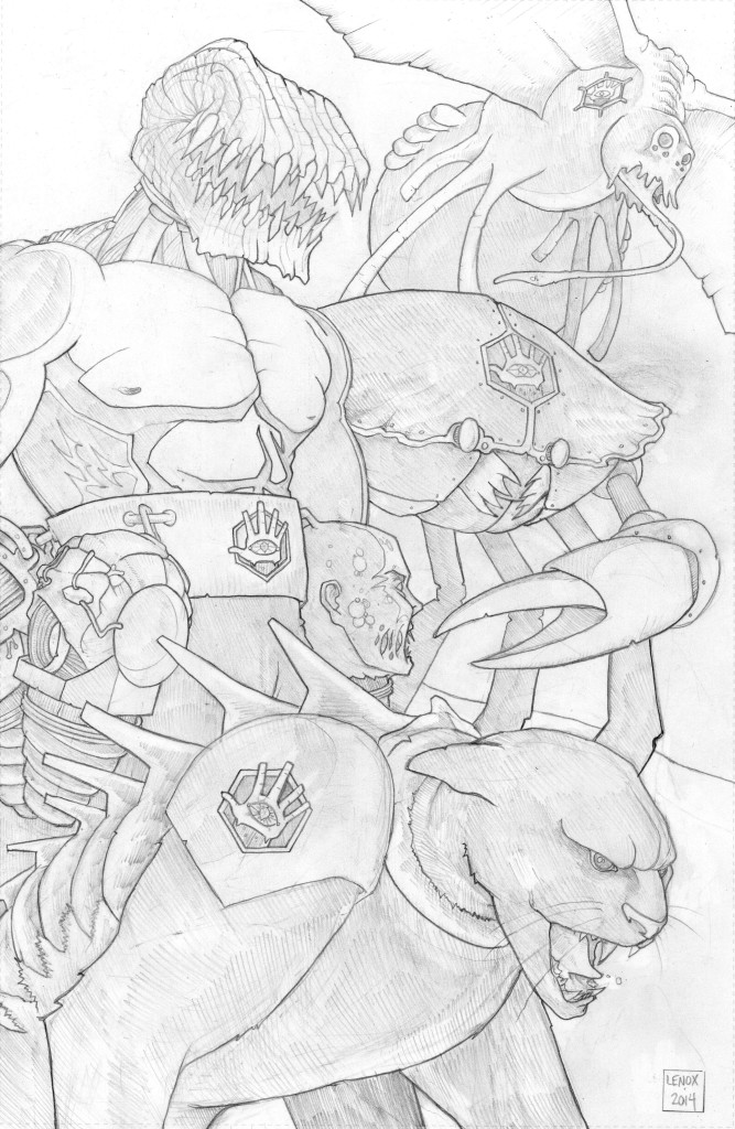 Lords of the Cosmos Pinup #4 Jason Lenox