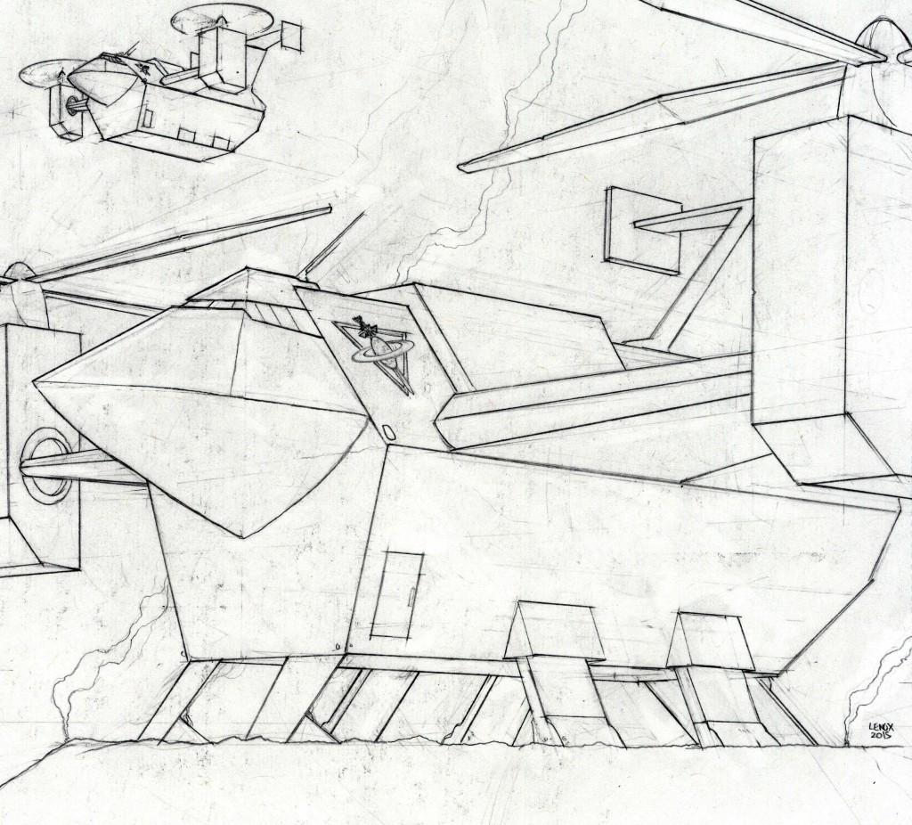 Jason Lenox Lords of the Cosmos VTOL transport