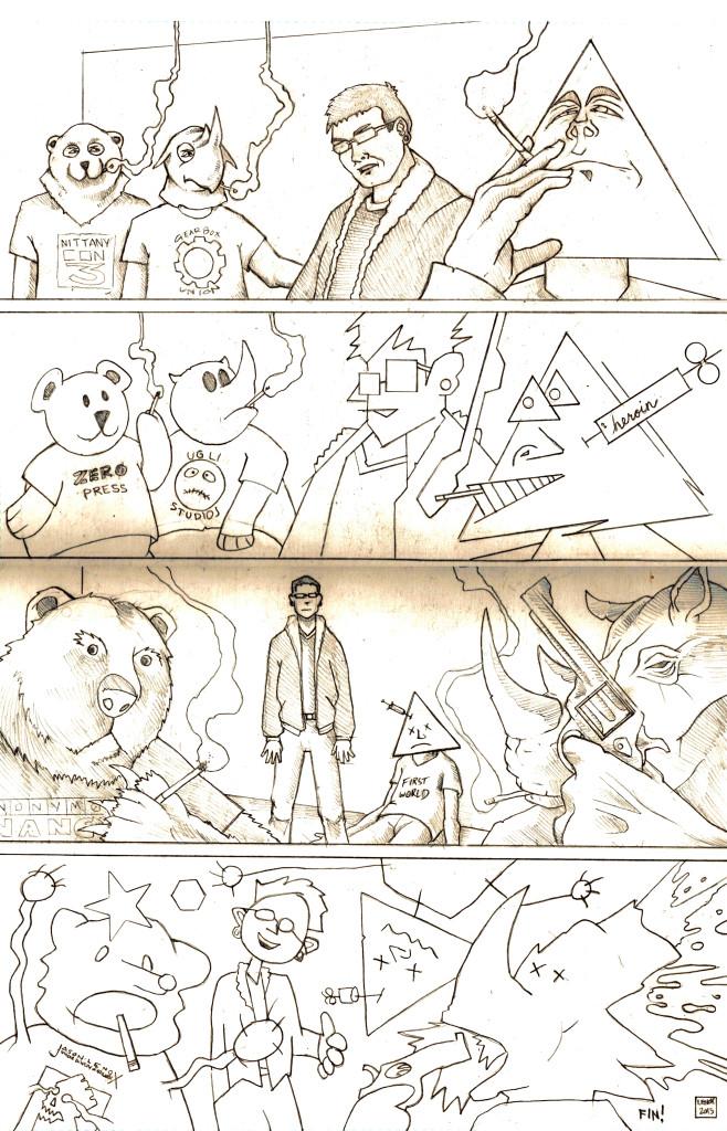 This is a Sad Comic Pencils Jason Lenox and Brendan Hykes