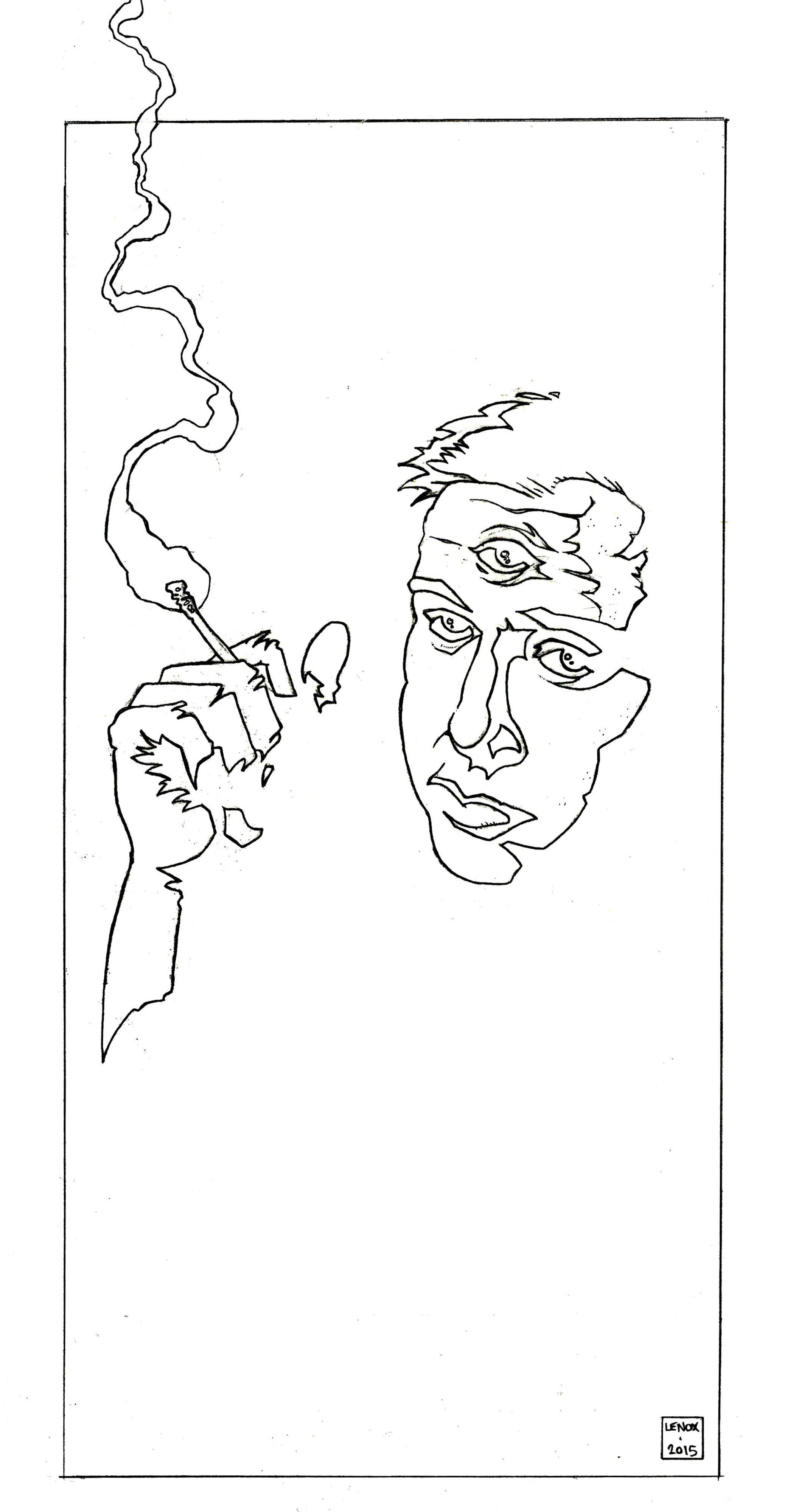 Bill Hicks Third Eye – Final Pencils – Jason Lenox
