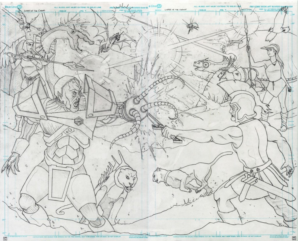 Lords of the Cosmos End of Chapter 2 two page spread Jason Lenox