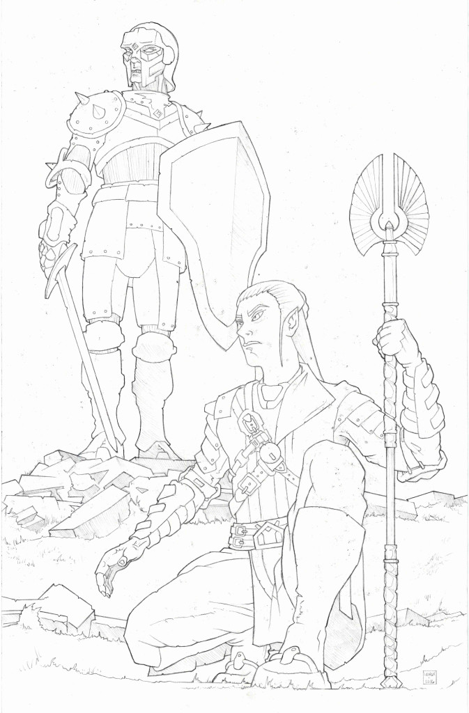 Elf and Warforged Fantasy Art Jason Lenox