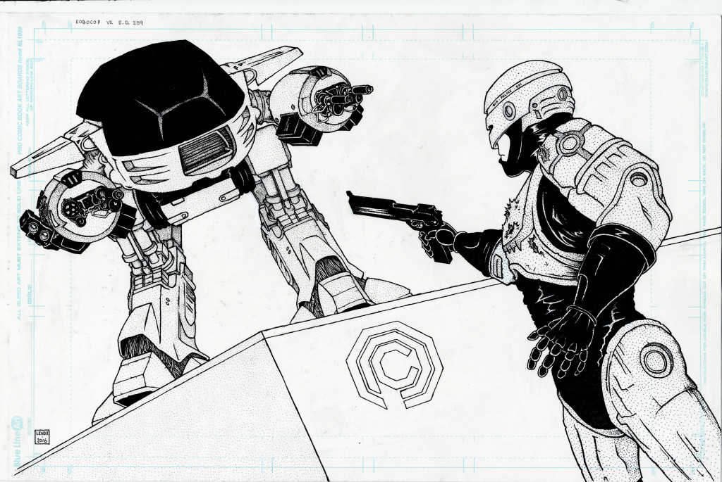Robocop ED209 Jason Lenox Inks