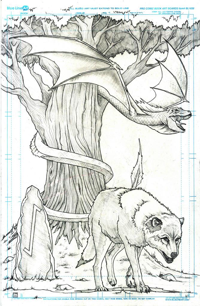 Fenris and the Nidhogg at Yggdrasil Jason Lenox