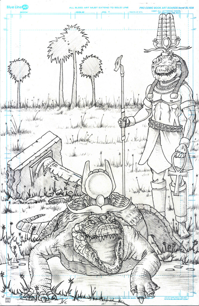 Sobek Crocodile God and War Crocodile Jason Lenox