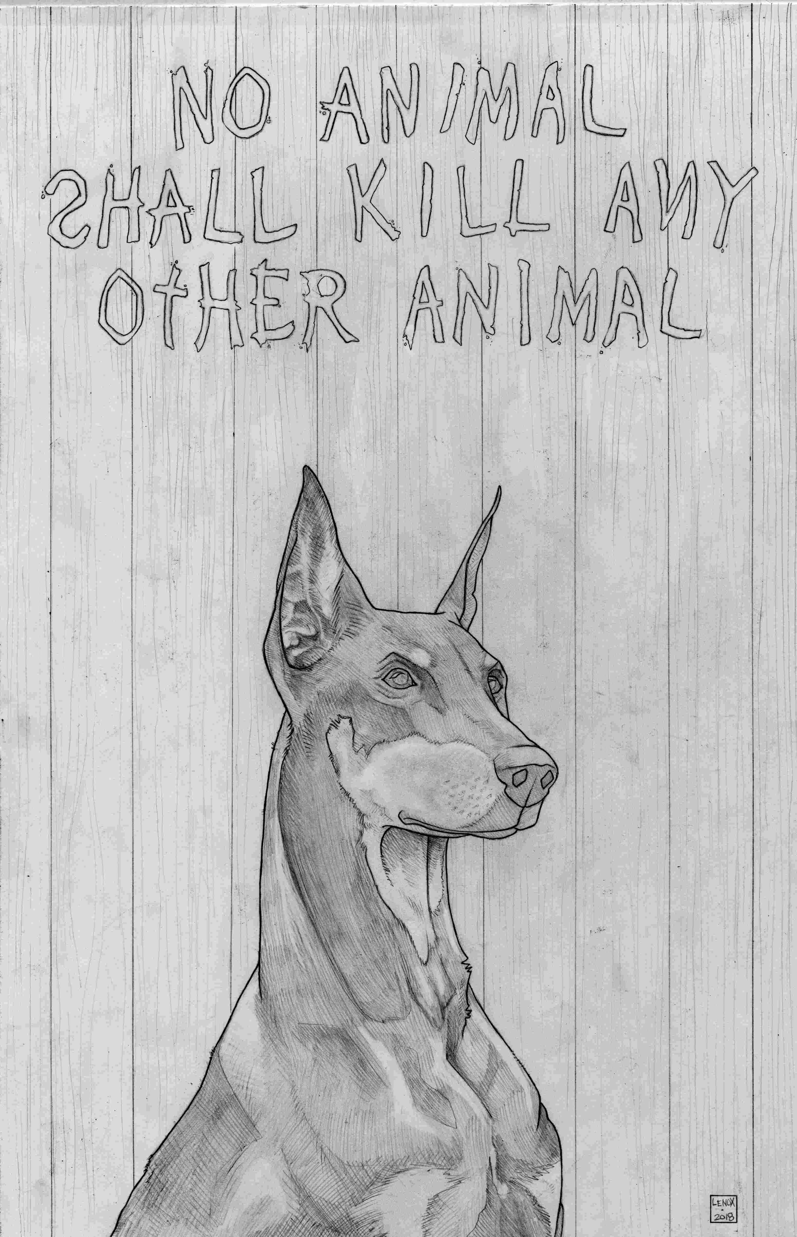 Animal Farm Pincher Pencils Jason Lenox